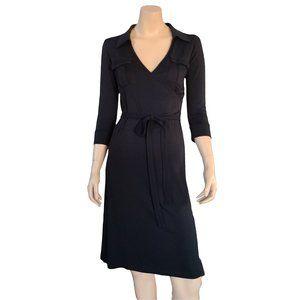 URBAN BEHAVIOR Black Long Sleeve V Neck Dress M